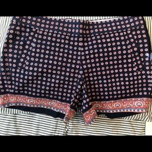 "J Crew Factory 5"" Printed City Fit Chino Shorts"
